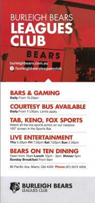 Burleigh Bears Leagues Club